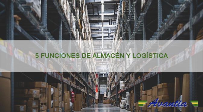 5 funciones de almacén y logística